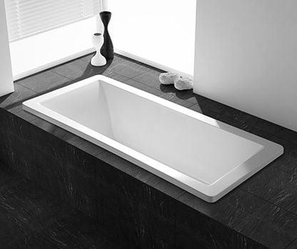 Badekar indmuret, Gustavsberg 70x170cm,incl. installation,afløb & fliseopsætning.